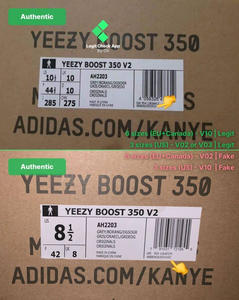 Authentic Yeezy Box V02 V10 Text