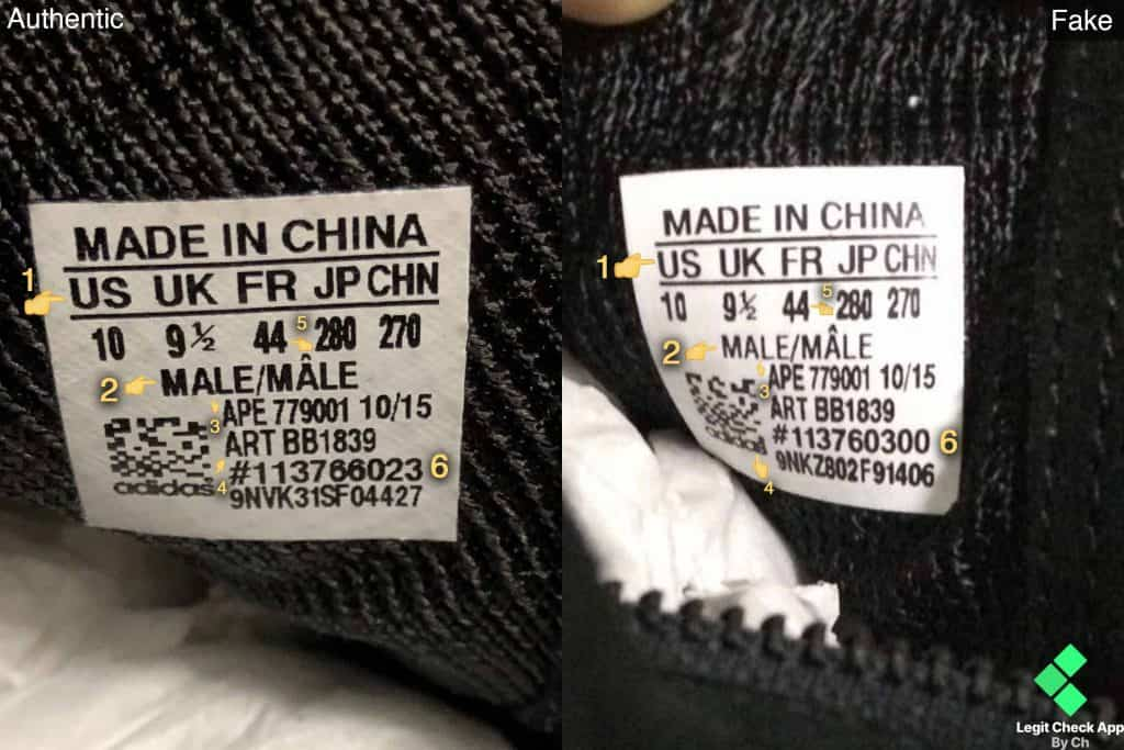 real vs fake yeezy 750 black