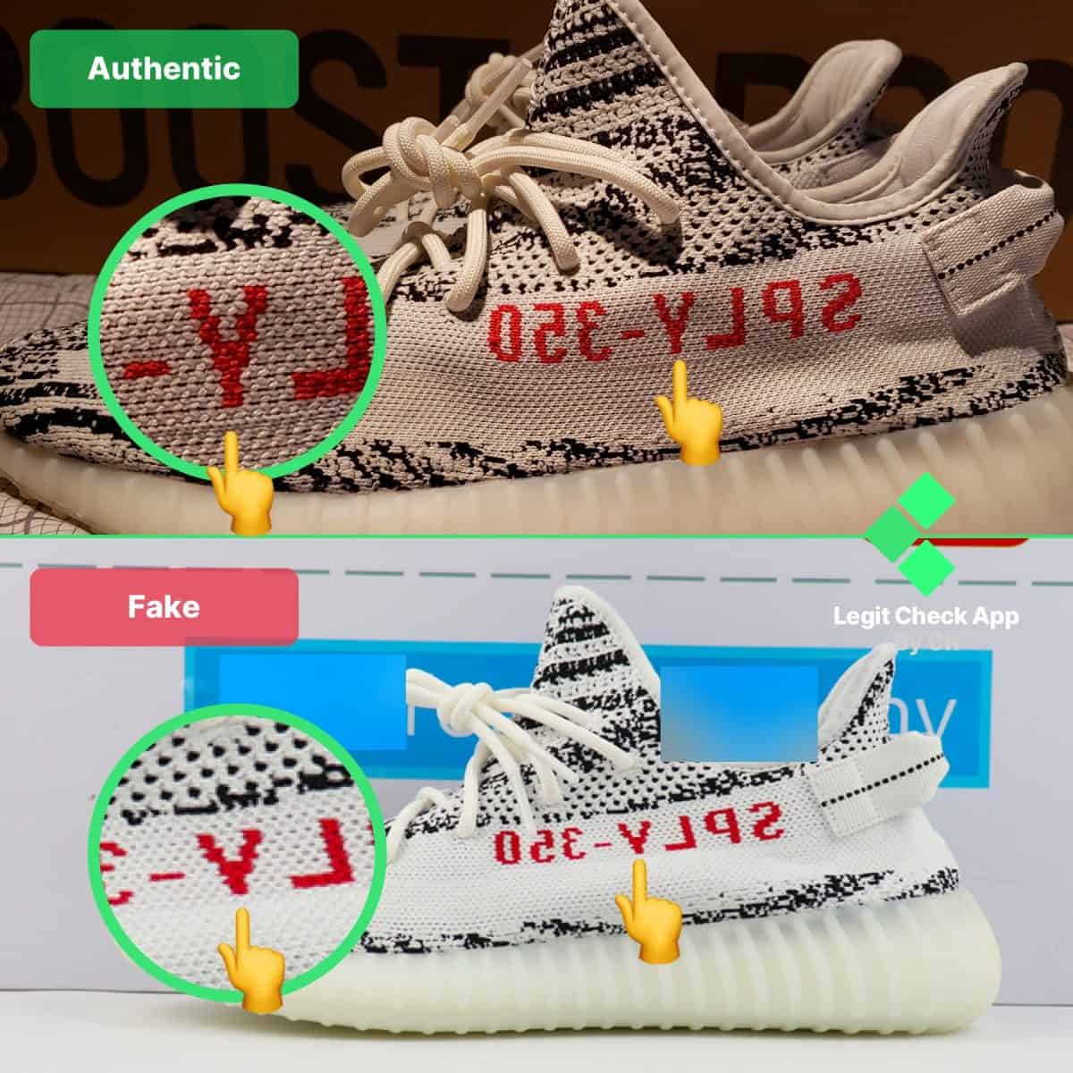 Yeezy Boost 350 V2 Zebra Fake Vs Real Legit Check Guide