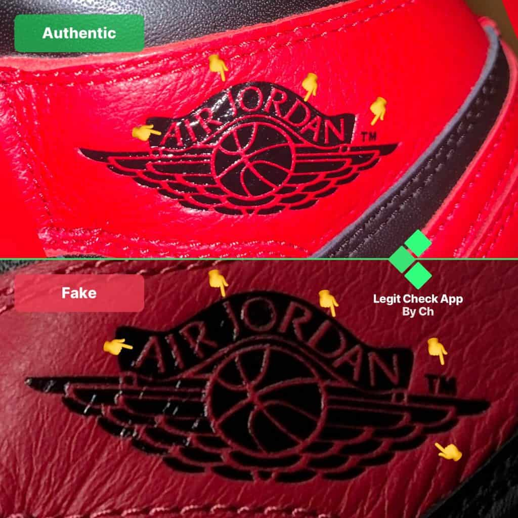 air jordan logo real vs fake