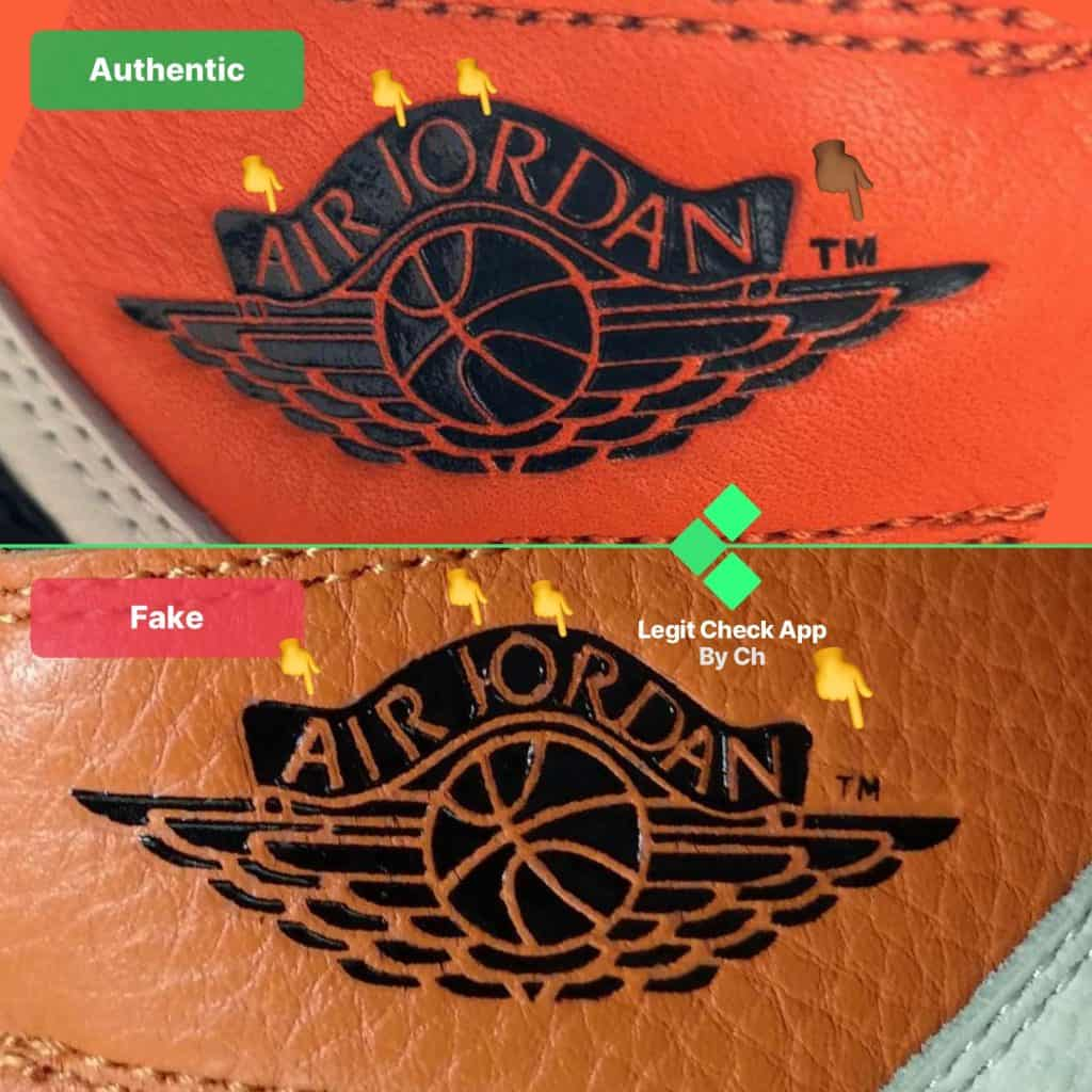 air jordan logo fake vs real