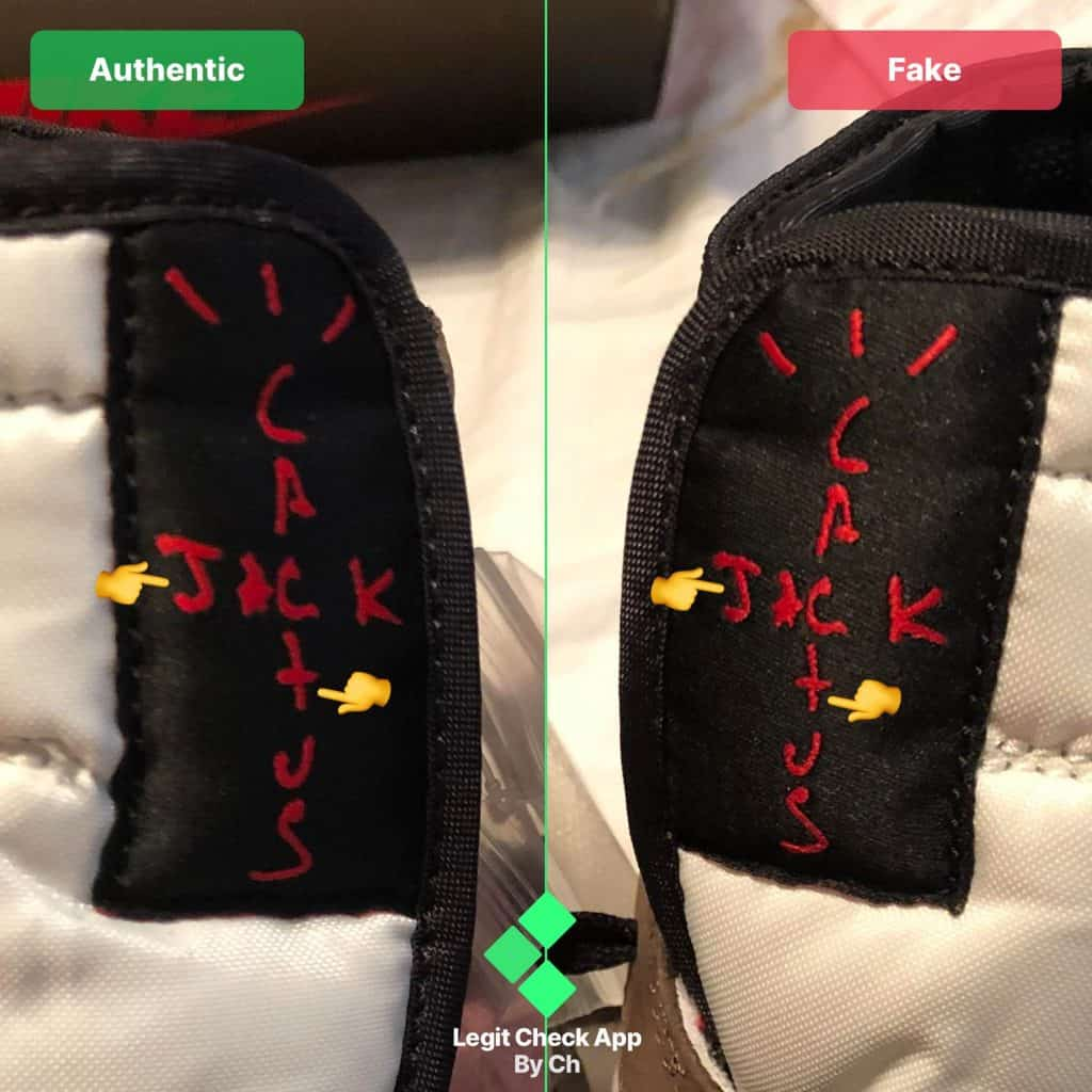 Cactus Jack logo real vs fake