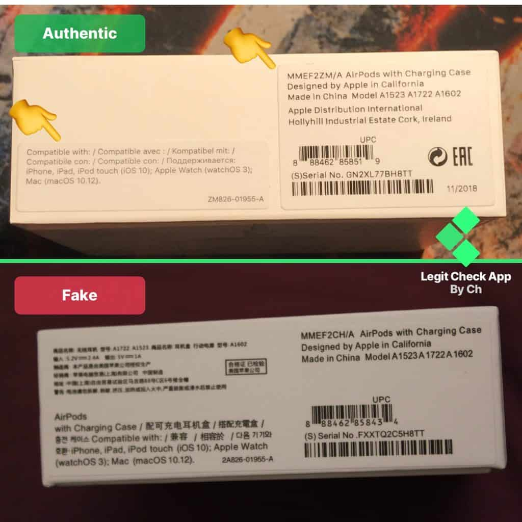 AirPods Fake Vs Real (How To Spot Fake AirPods) - Legit Check By Ch