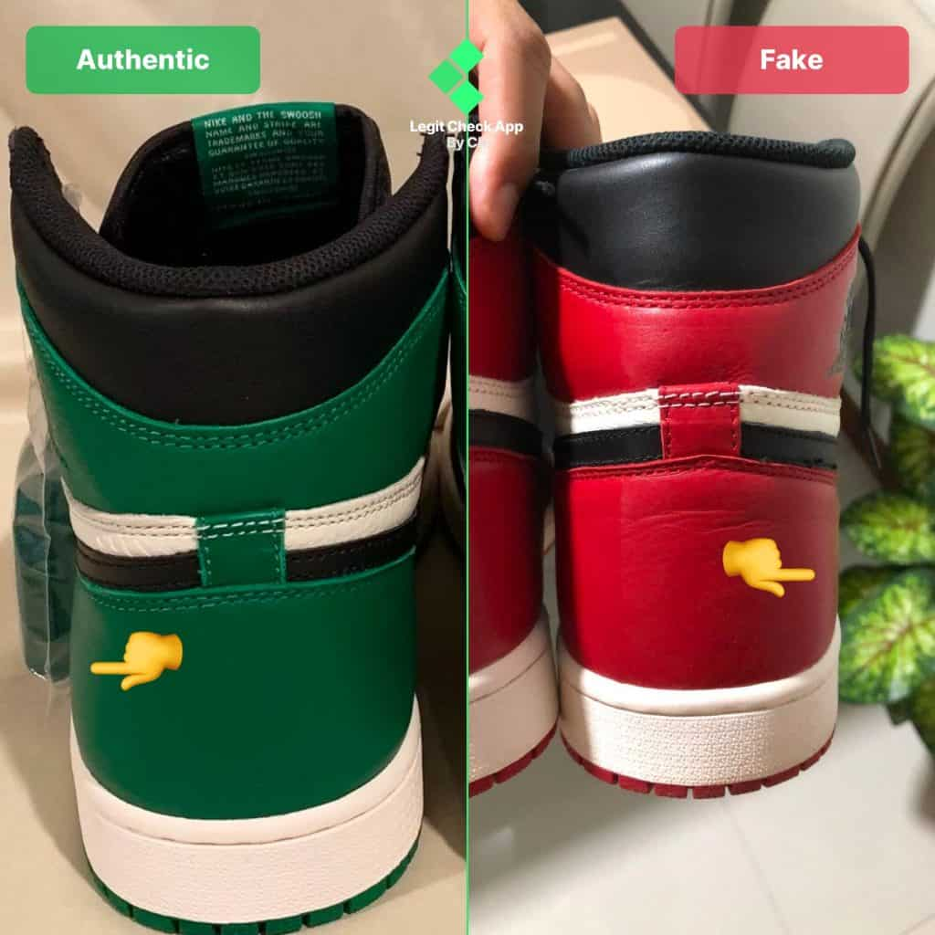 air jordan 1 shape replica vs real