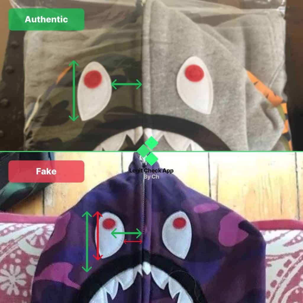 Bape shark real vs fake