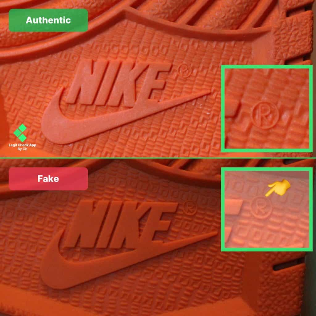 nike logo on the sole of Jordan 1