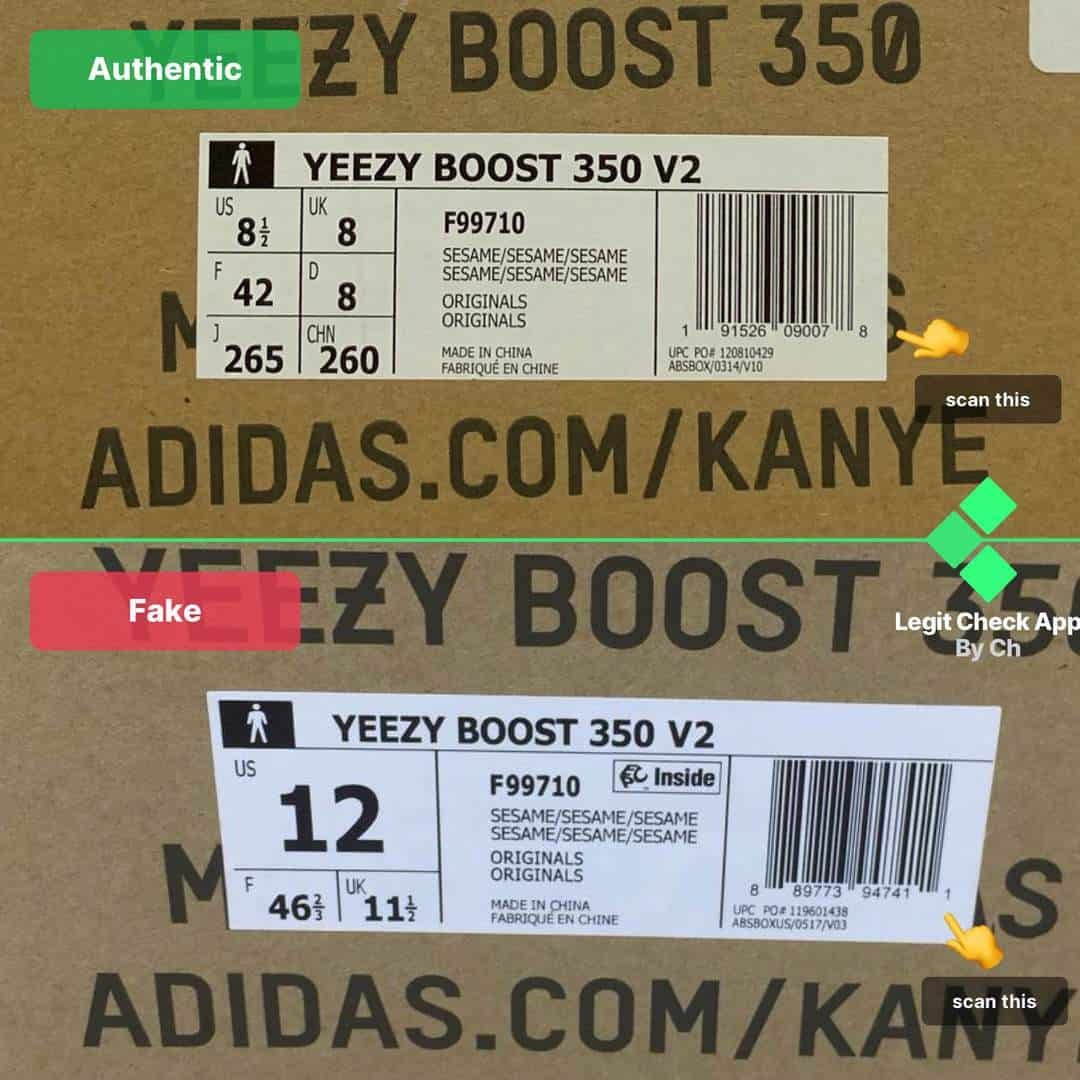 How To Spot Fake Vs Real Yeezy Sesame (350 V2 Sesame Legit