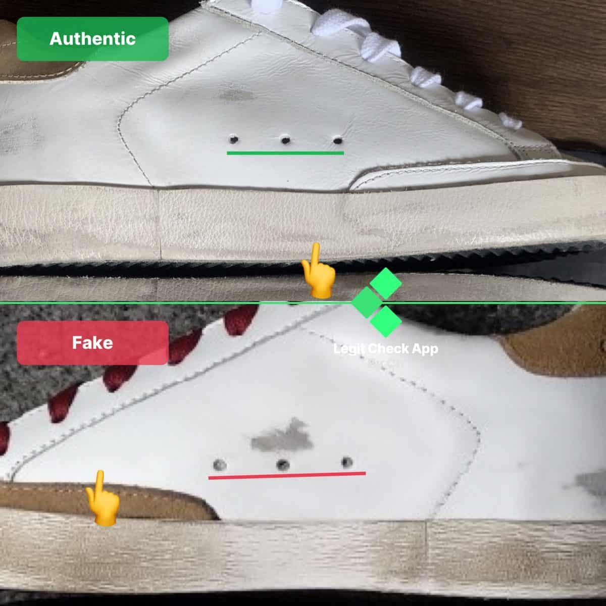 Real vs Fake Golden Goose Sneakers