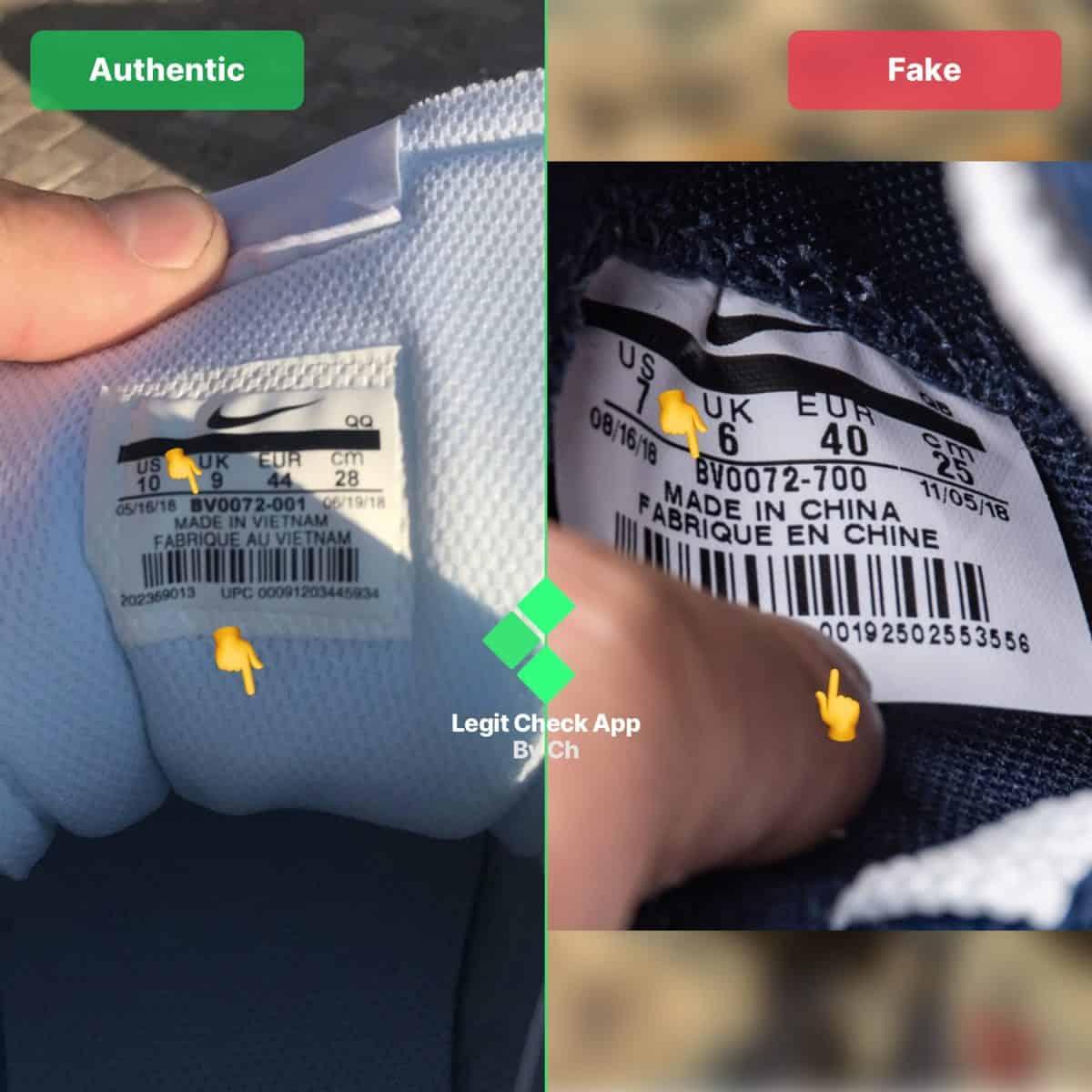 Nike Sacai Blazer Fake vs Real Guide