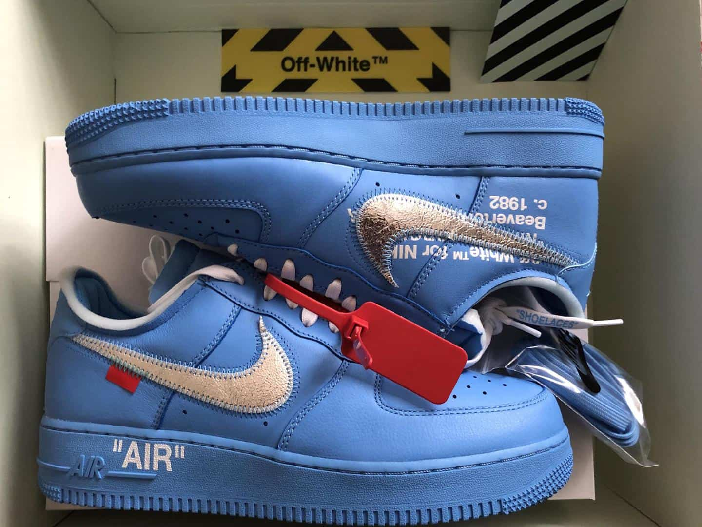 nike air force 1 off white mca blue