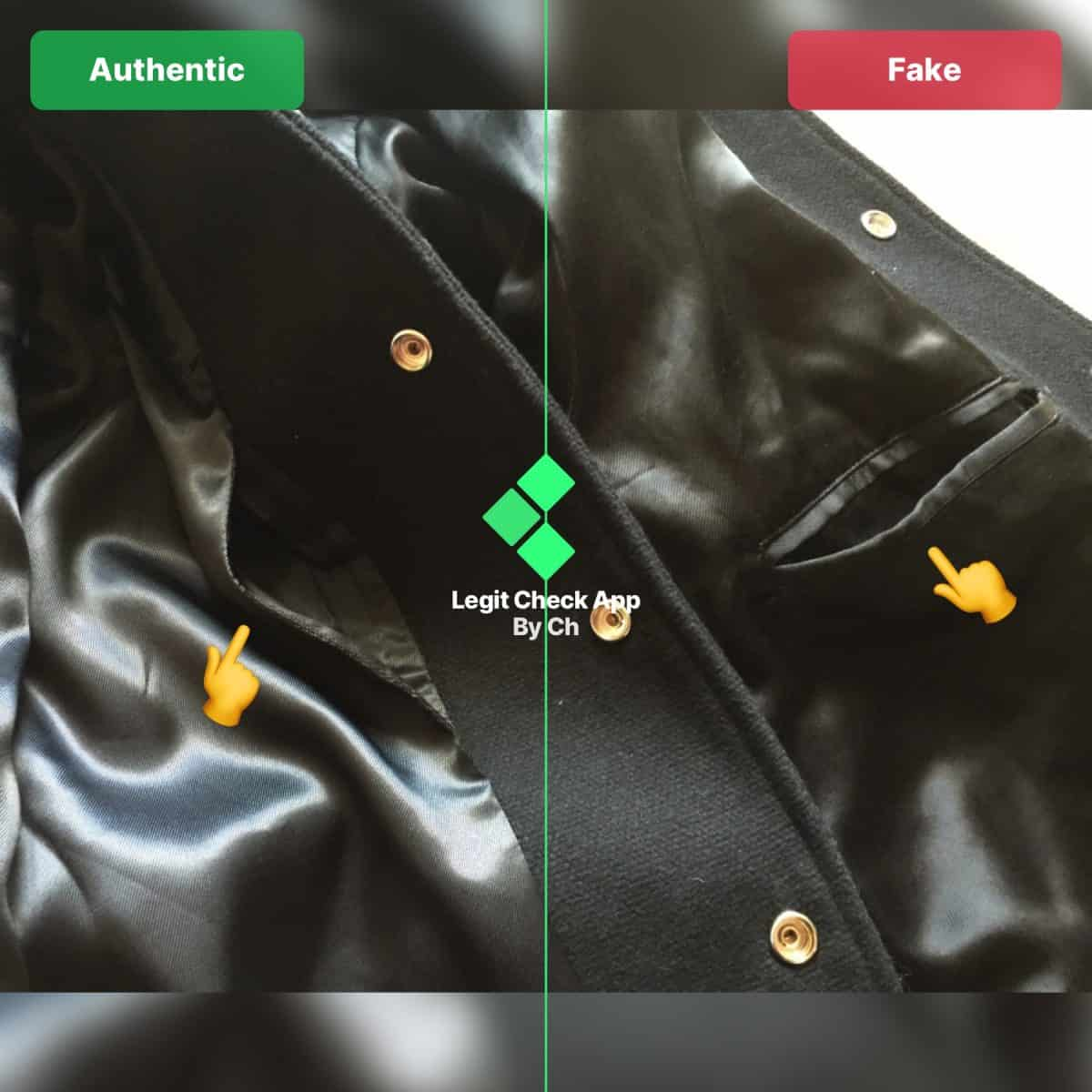 SLP Teddy Jacket Fake vs Real Guide