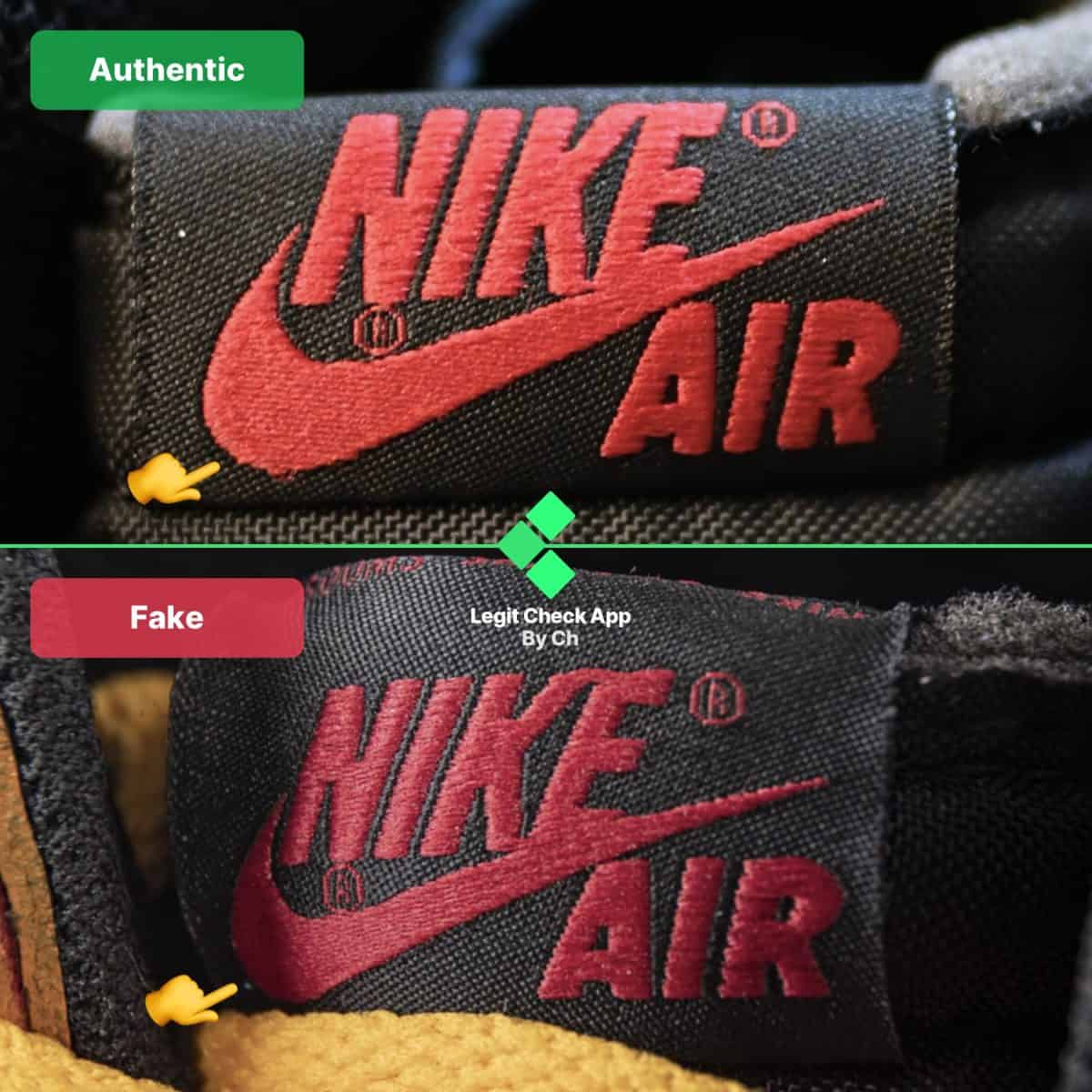 real vs fake air jordan 1 union