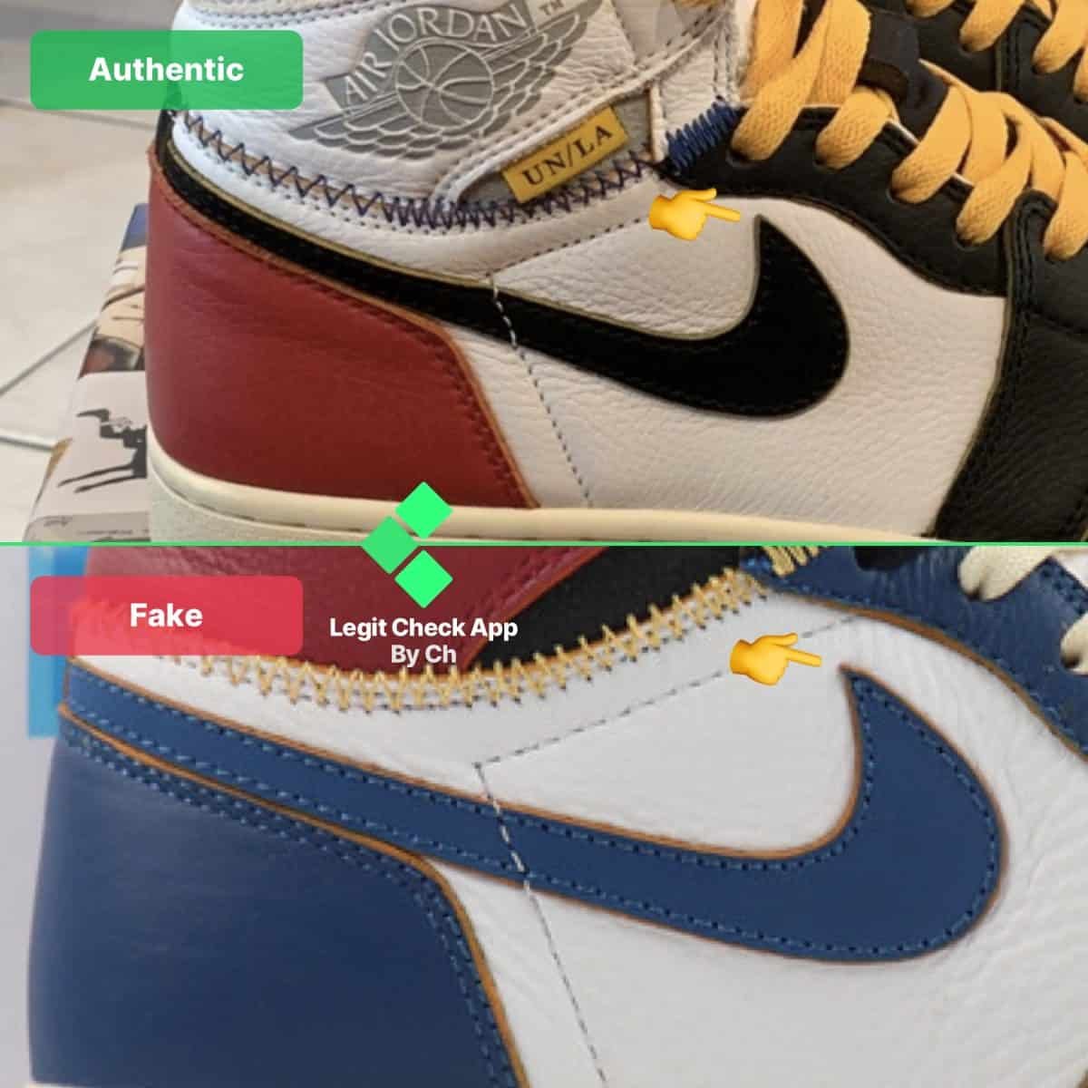 air jordan 1 fake vs real guide