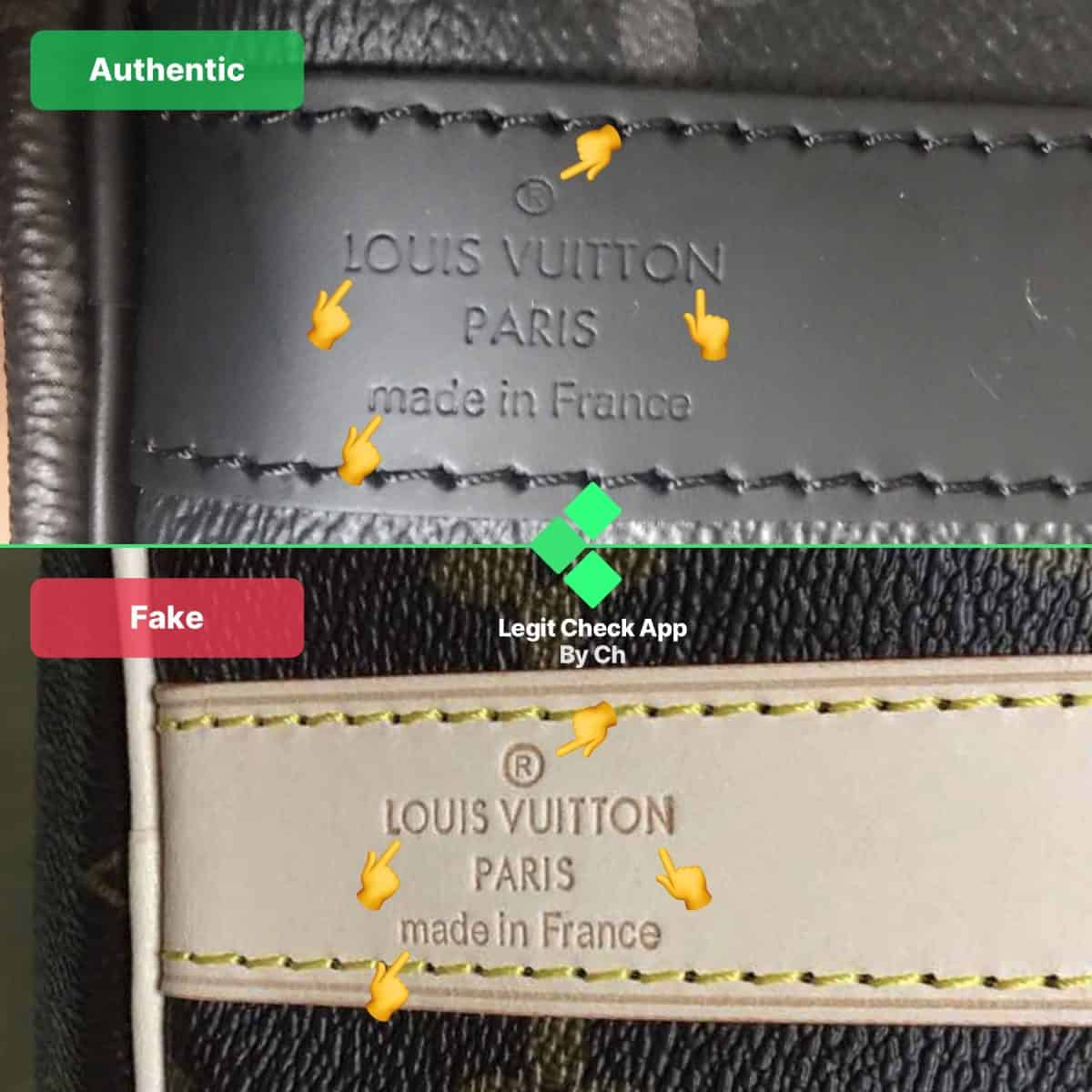 fake vs real louis vuitton keepall bag