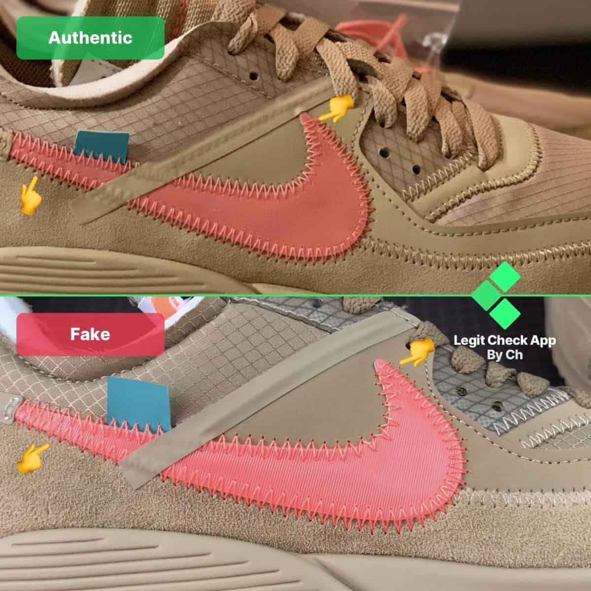 real vs fake air max 90 off white desert ore
