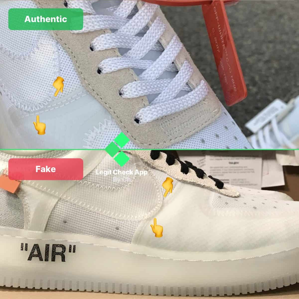 Real Vs Fake Off White Nike AF1