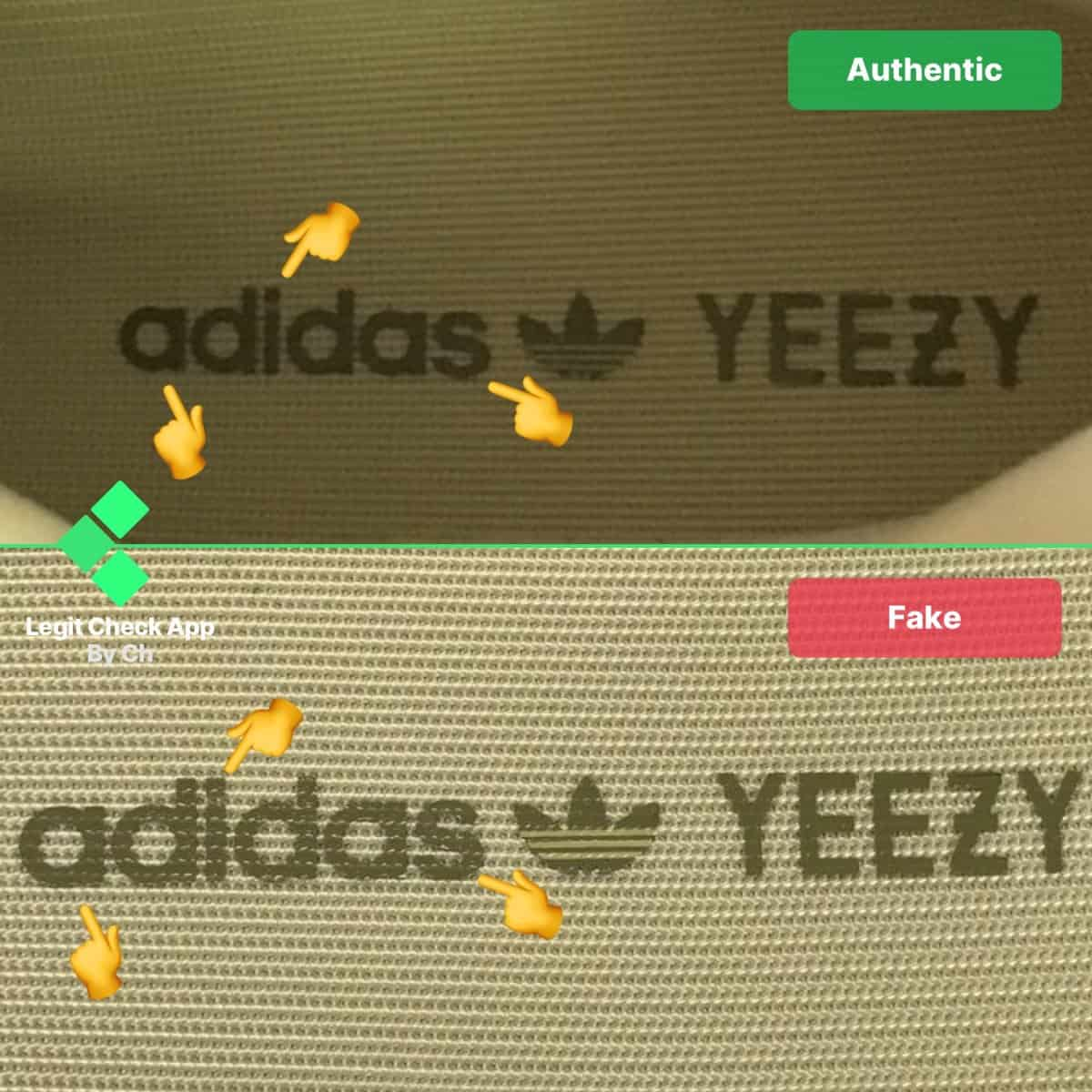 real vs fake yeezys
