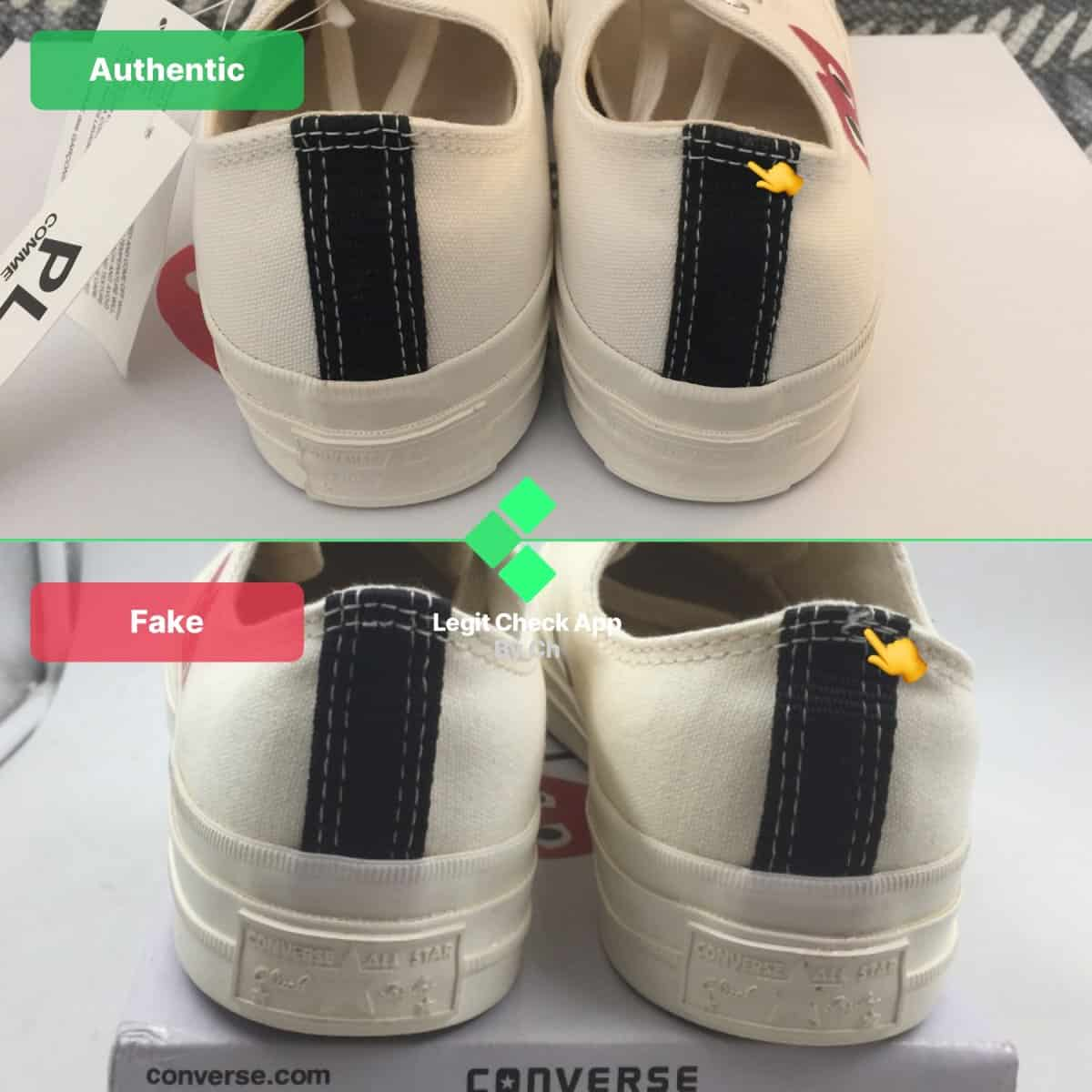 How To Spot Fake Comme Des Garcons CDG Converse Sneakers ...