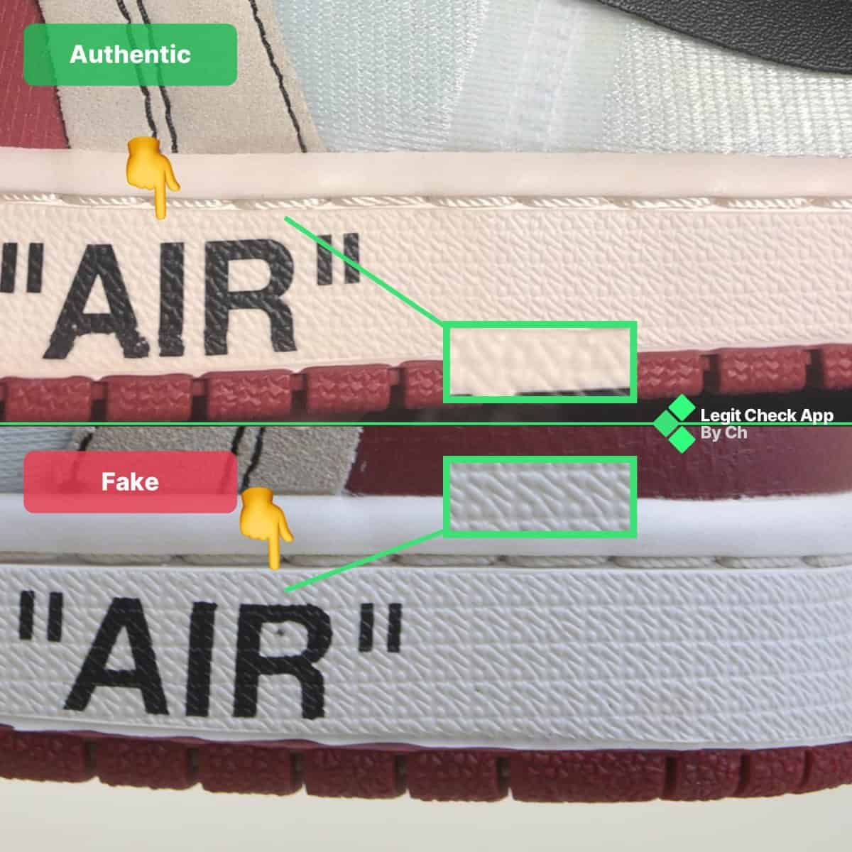 ow aj1 chicago fake vs real