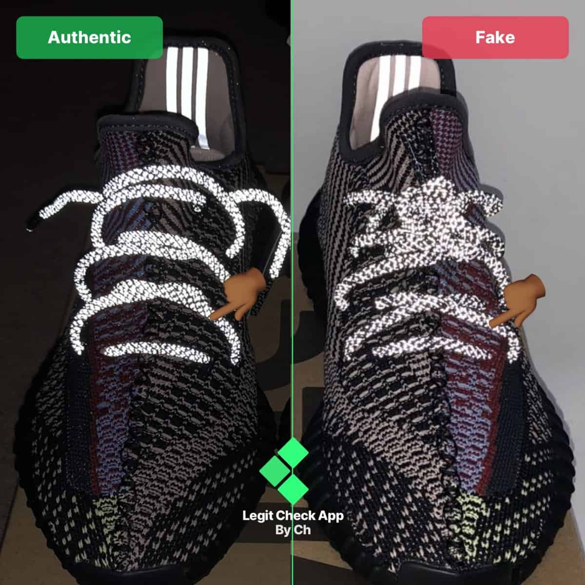 3m yeezy fake vs real