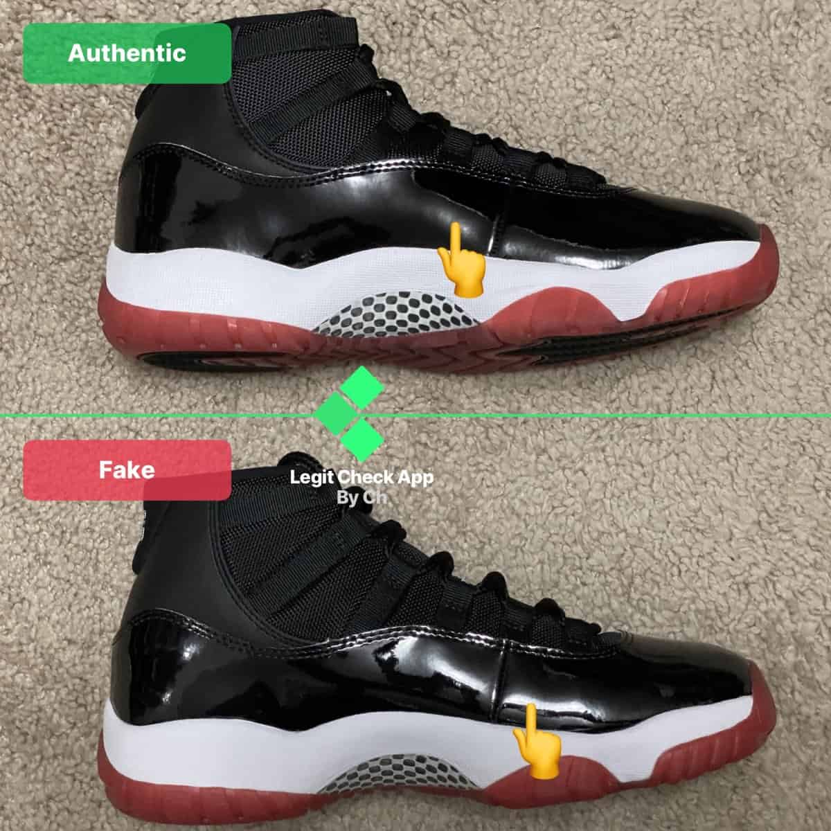 air jordan xi real vs fake