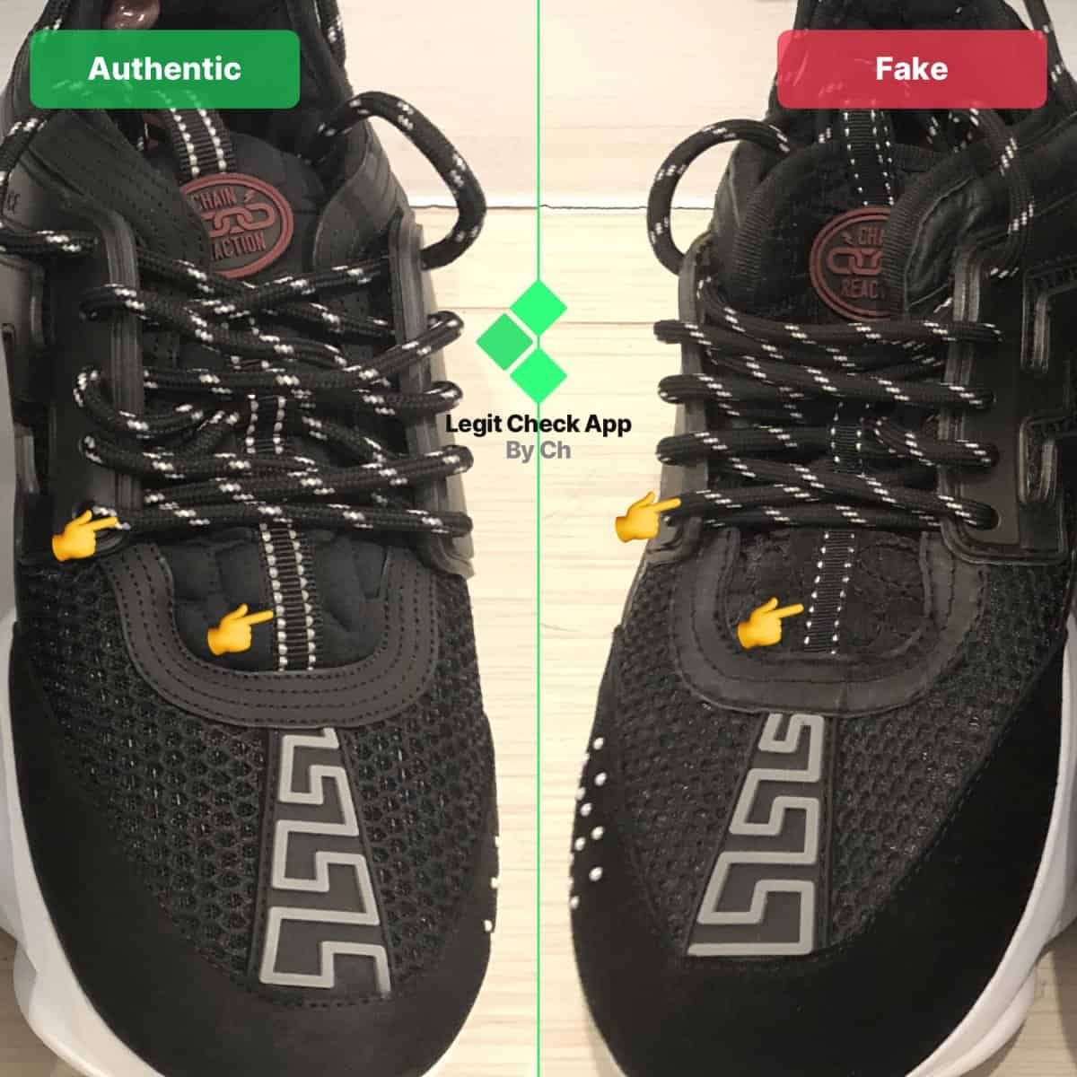 how to spot fake versace sneakers