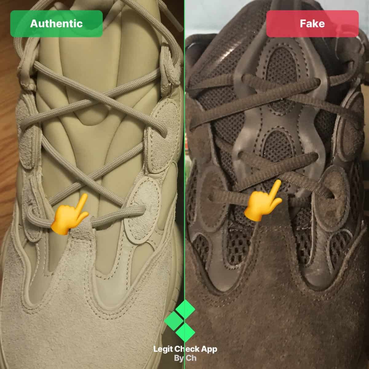 fake vs real yeezy