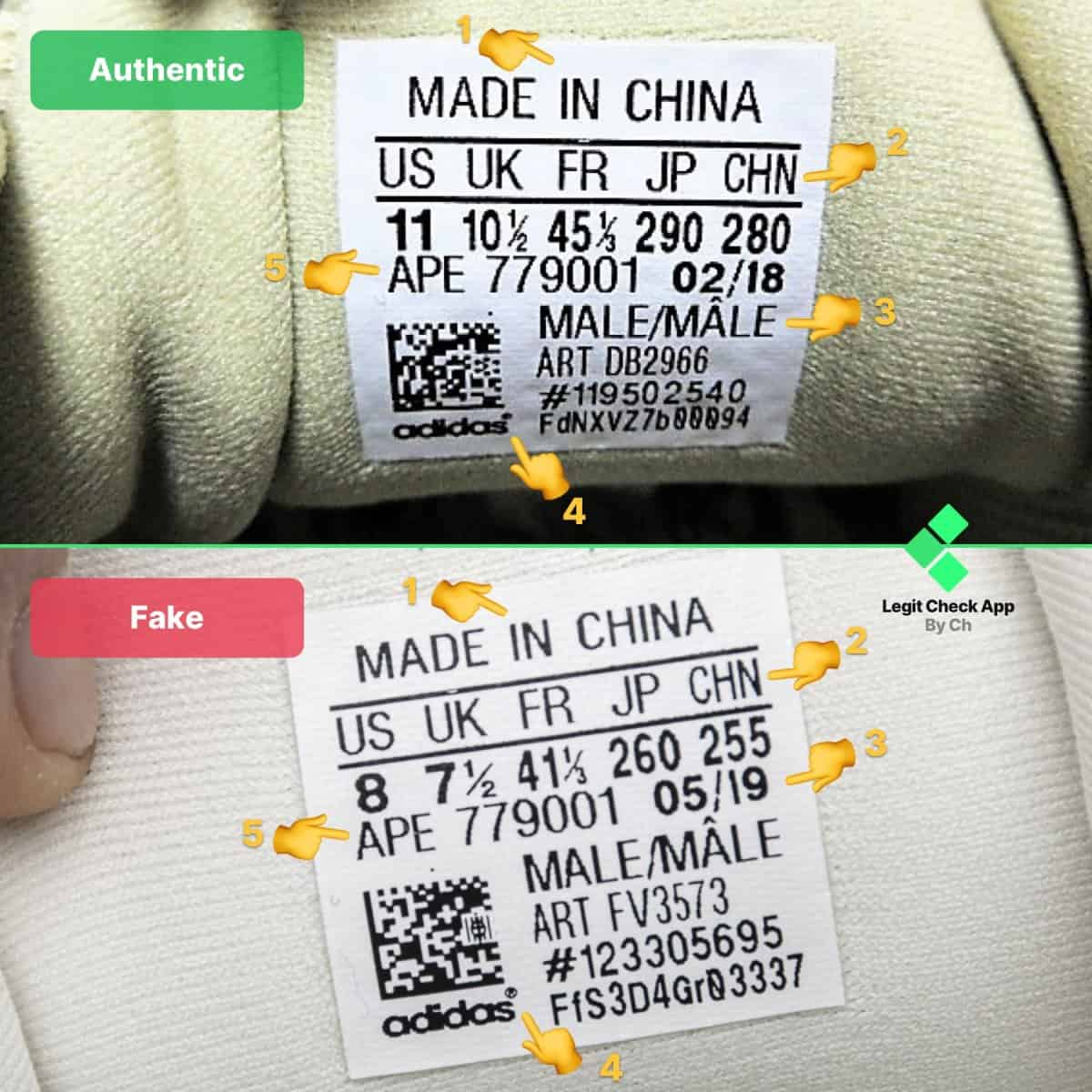 yeezy 500 fake vs real