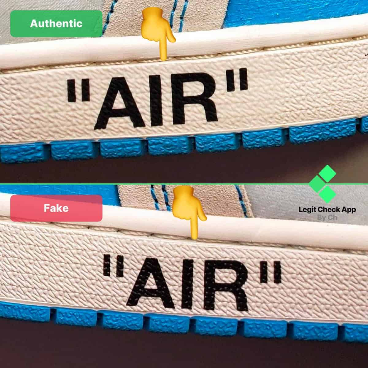 ow air jordan 1 real vs fake