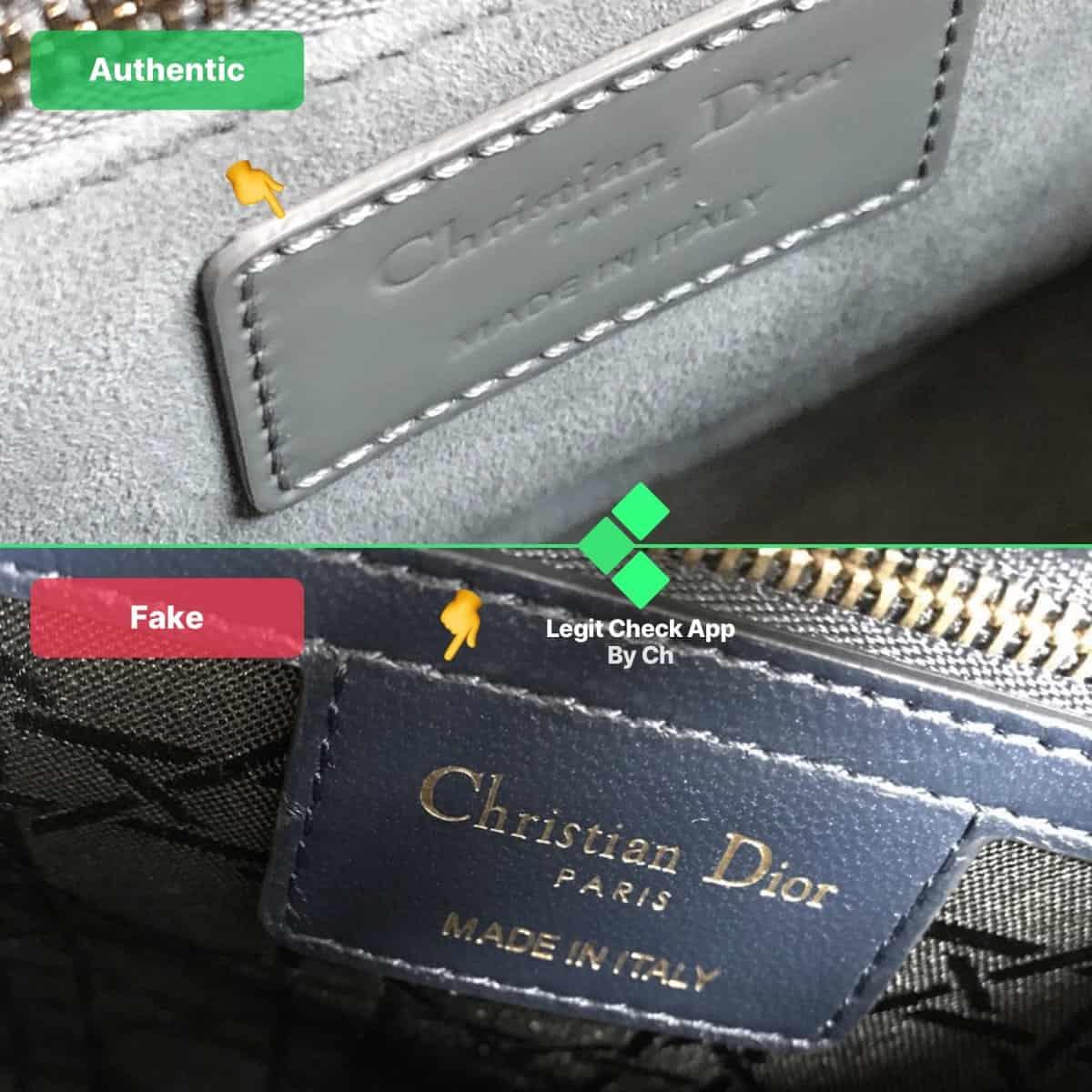 fake vs real dior bag