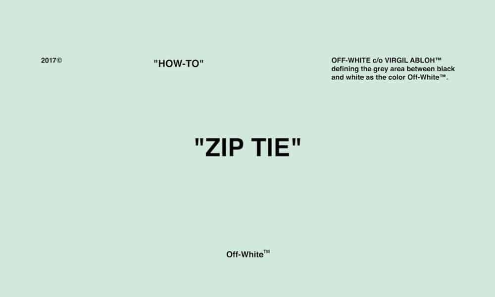 OW Zip Tie Fake VS Real