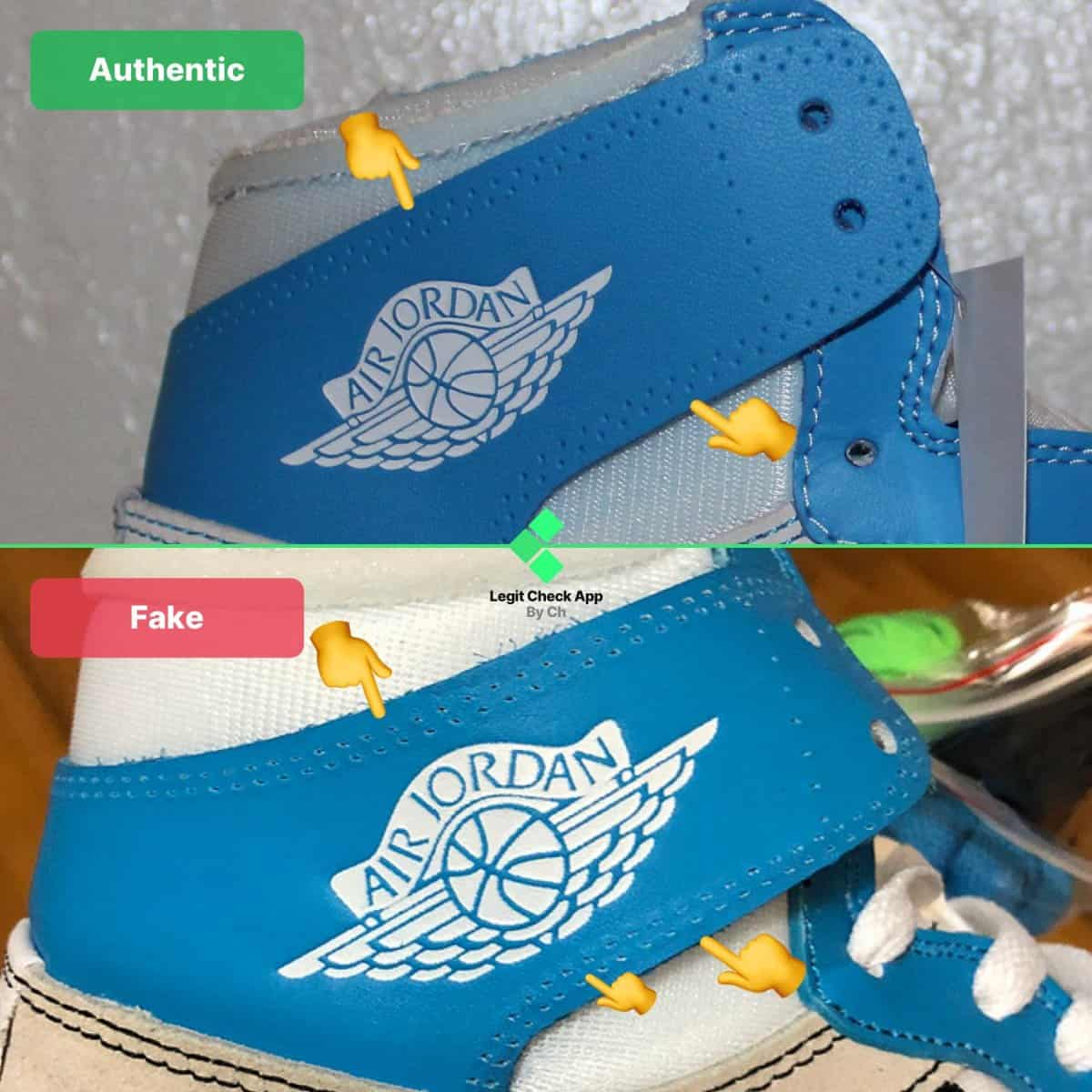 how to spot fake ow aj1 unc