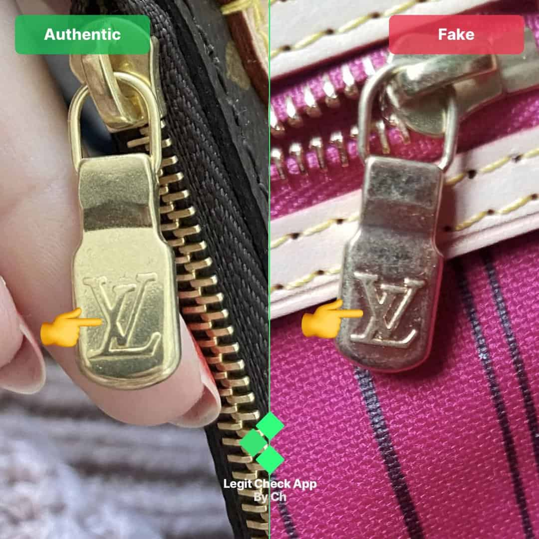 real vs fake louis vuitton neverfull