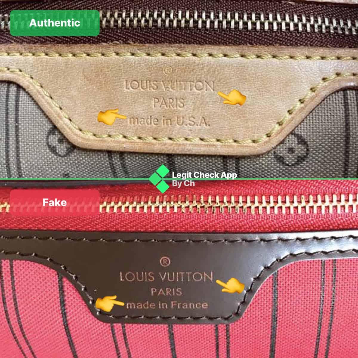 Louis Vuitton Neverfull Mm Real Vs Fake Bag Comparison Legit Check By Ch