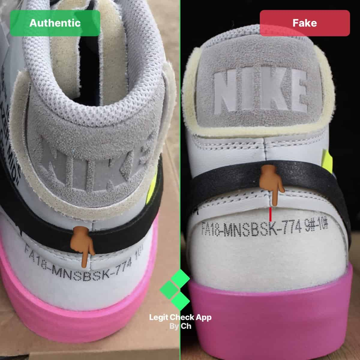 real vs fake ow blazer queen