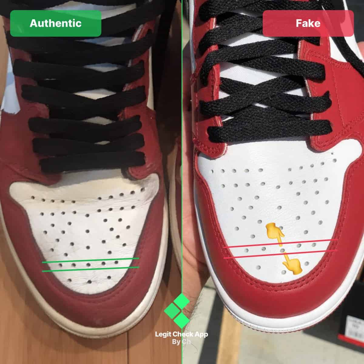 how to spot fake aj1 chicago