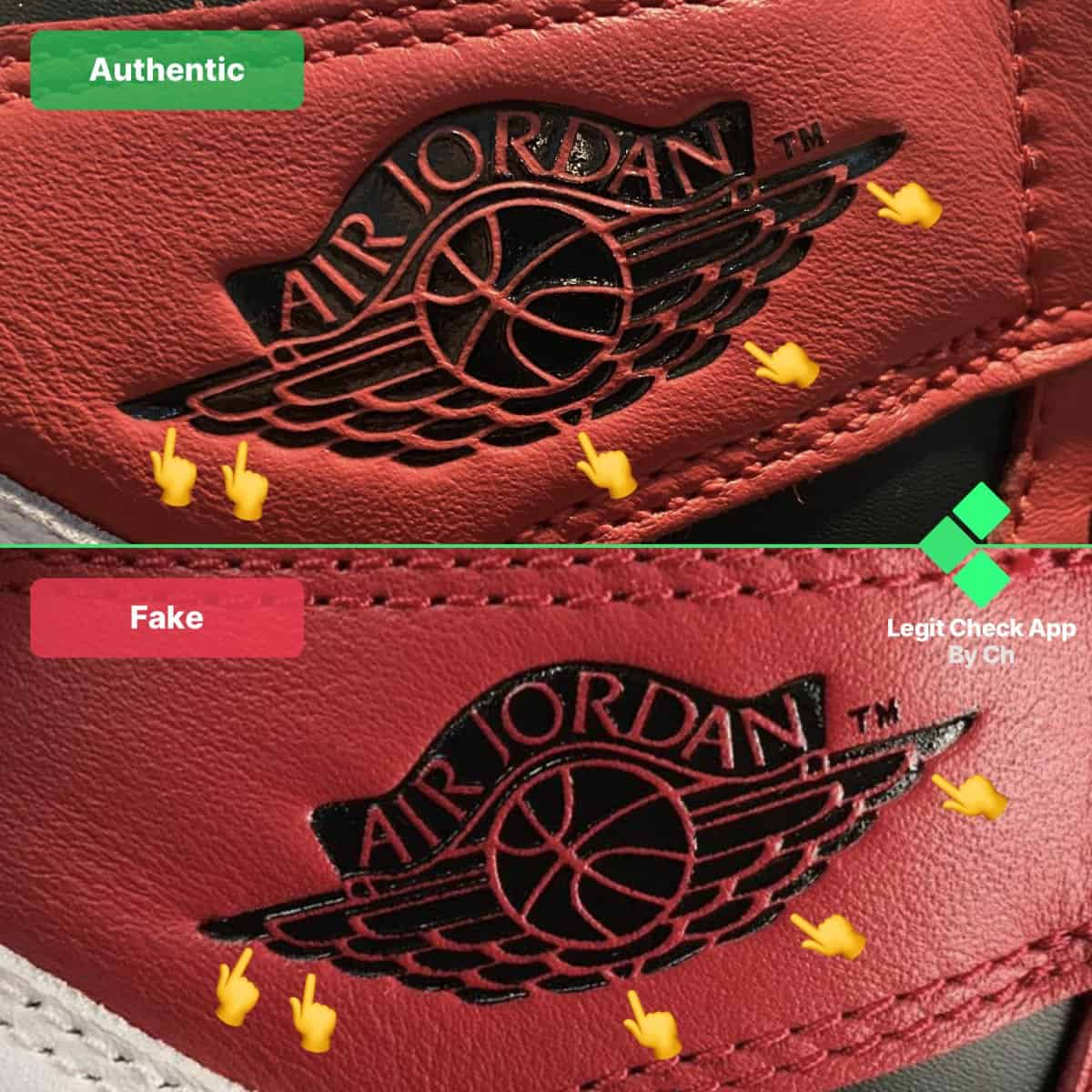 fake vs real aj1 chicago