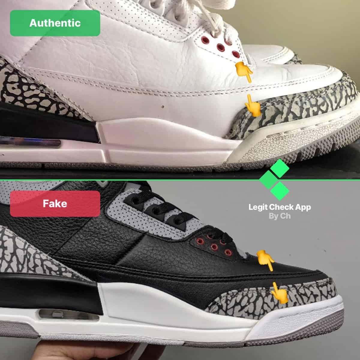 Fake Vs Real Air Jordan 3 - Universal