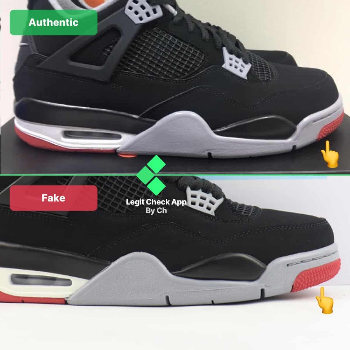 How To Spot Fake Air Jordan 4 - Real Vs