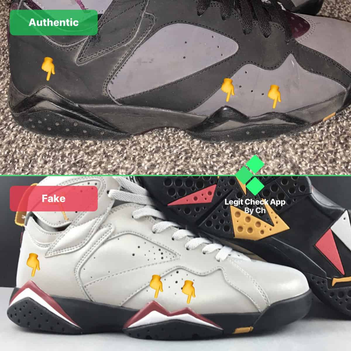 fake vs real aj7