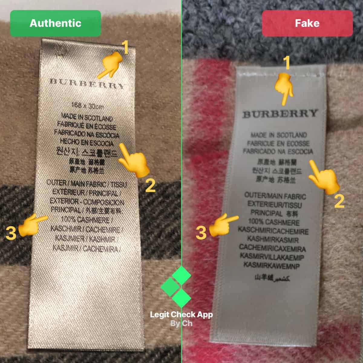 real vs fake burberry scarf