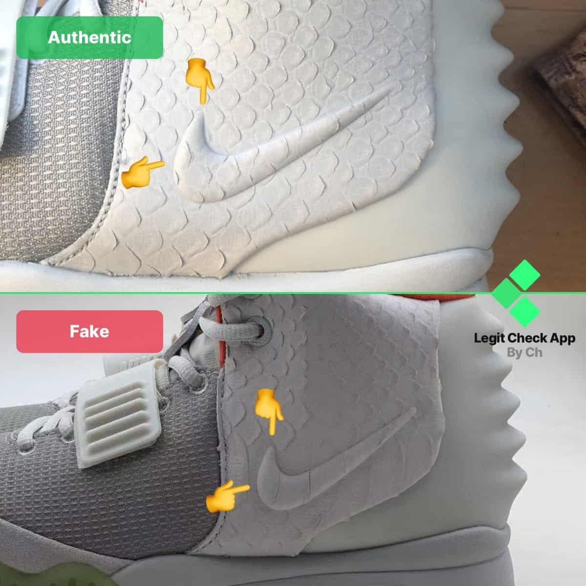 yeezy pure platinum real vs fake