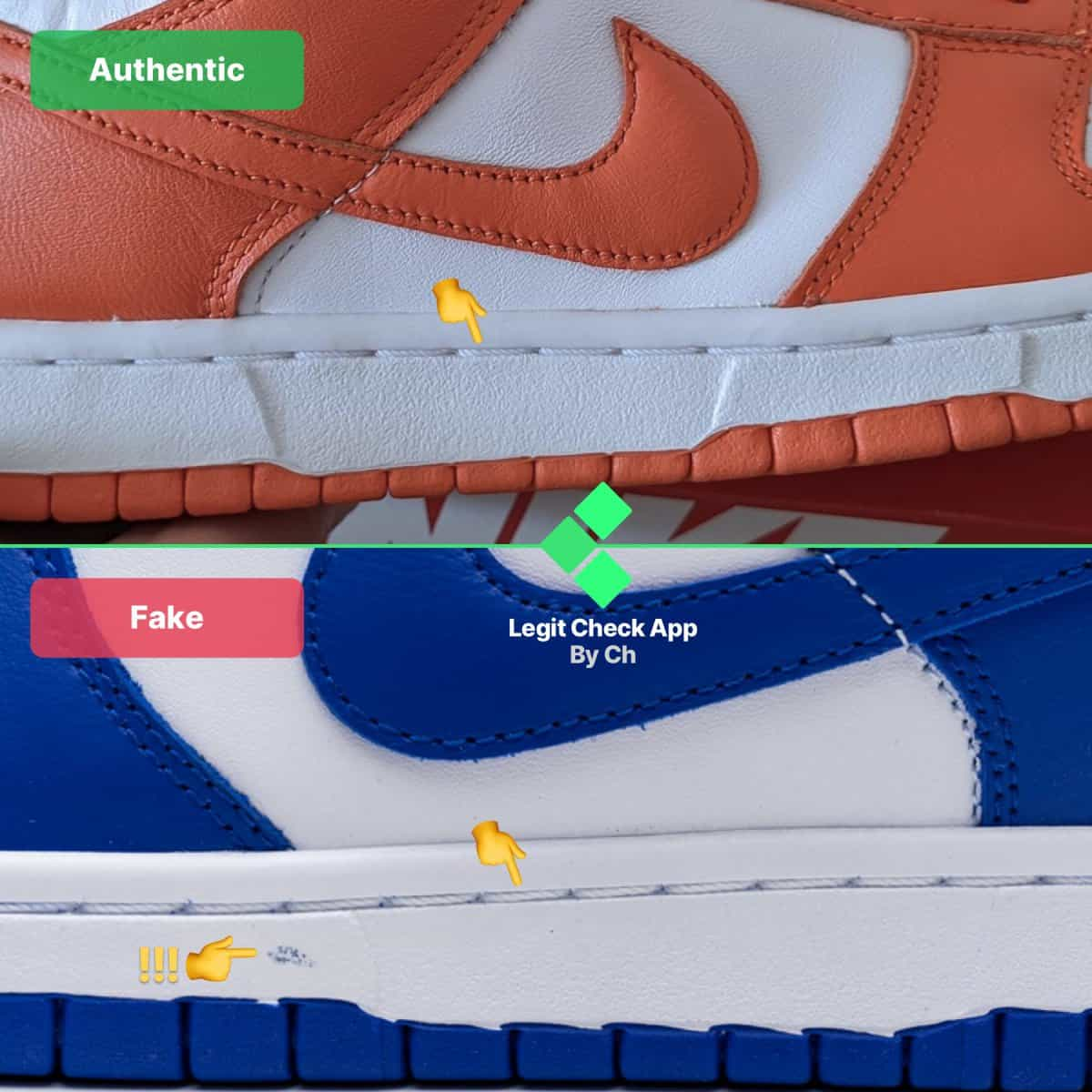 how to spot fake nike dunk