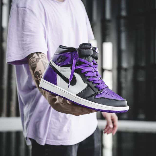Air Jordan 1 Court Purple fake vs real