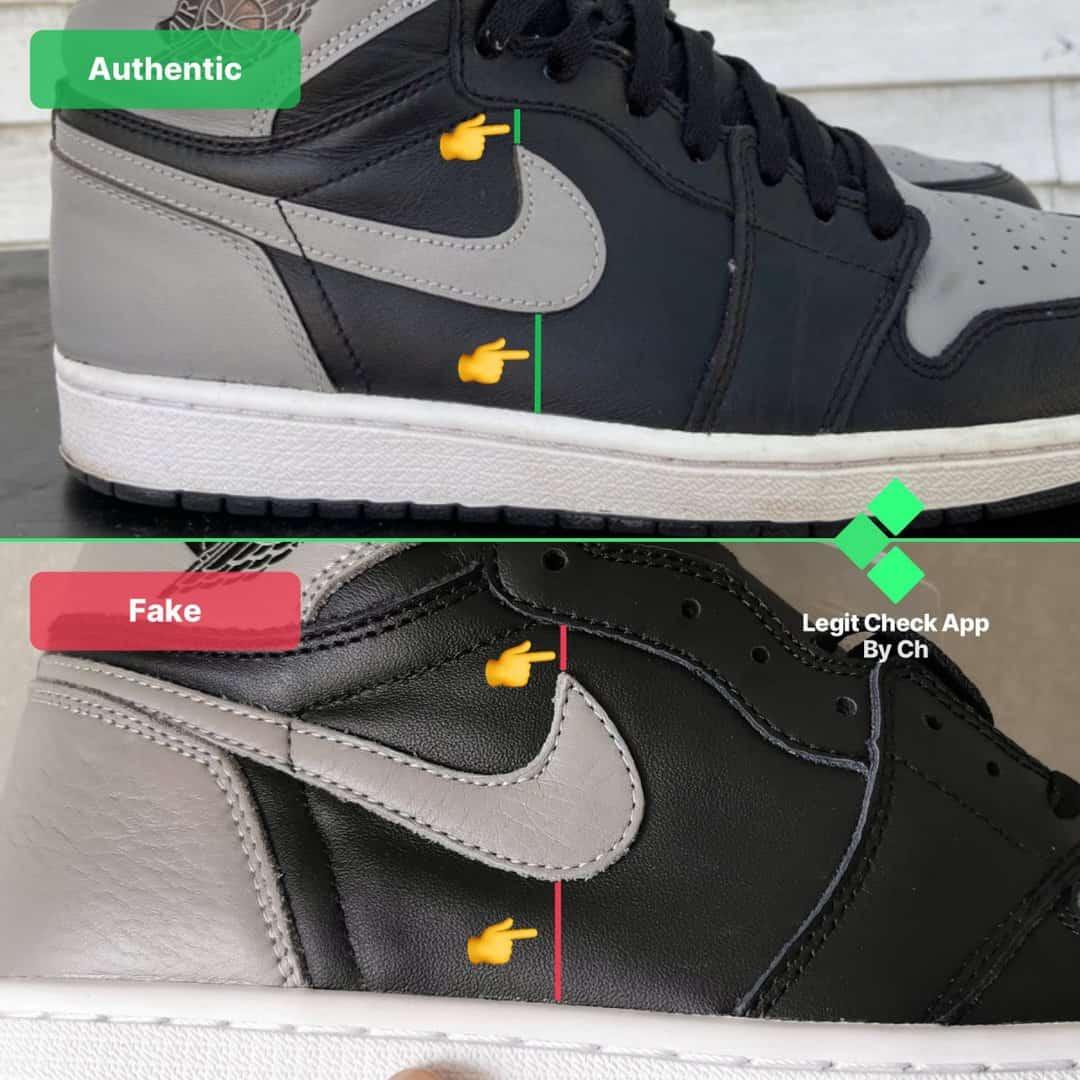 how to spot fake AJ1 Shadow