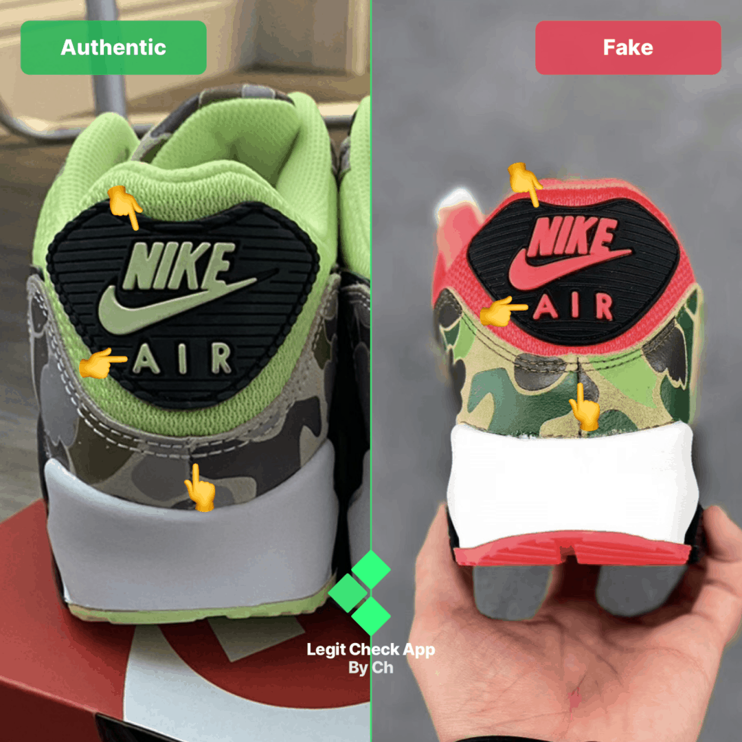 nike am90 real vs fake