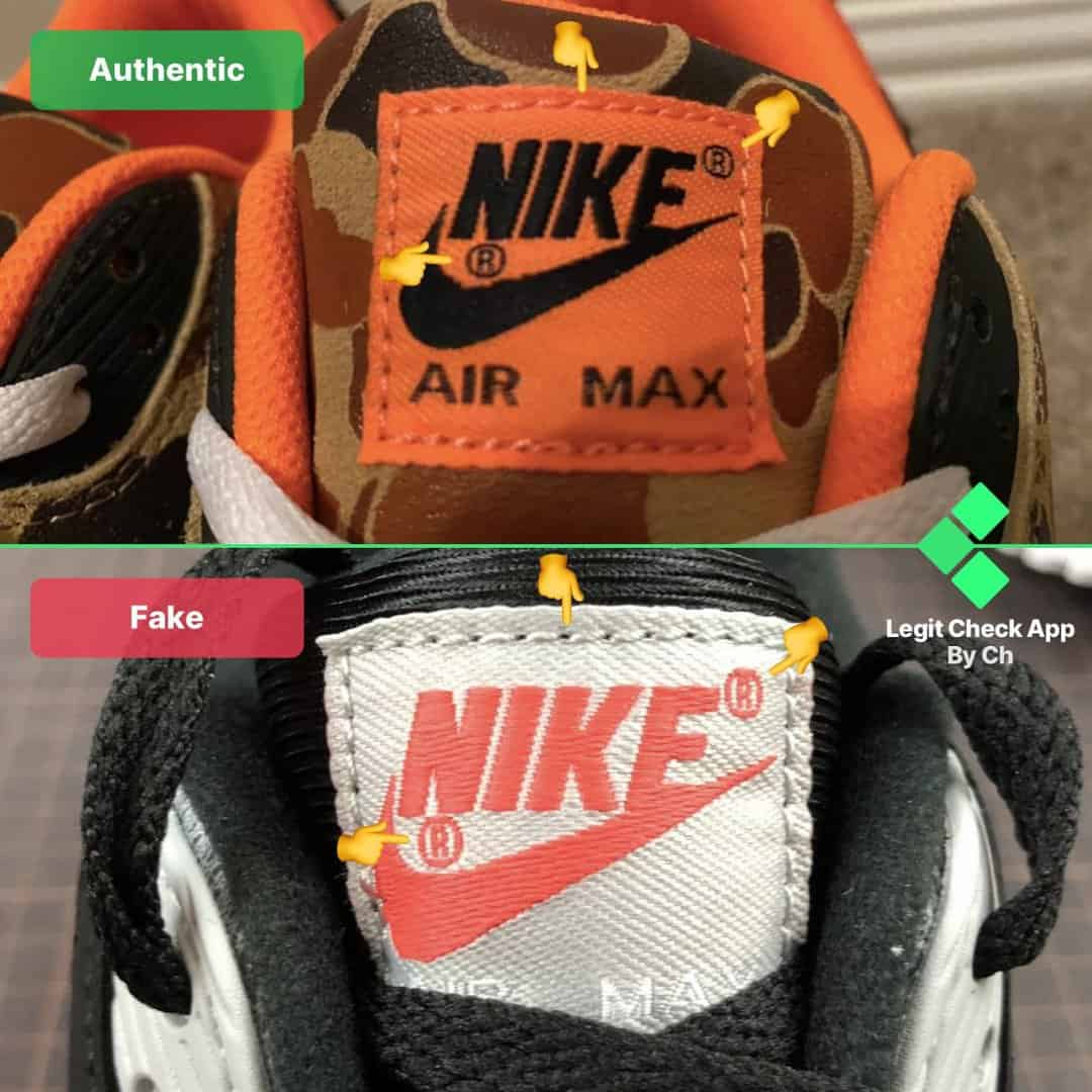 real vs fake nike am90