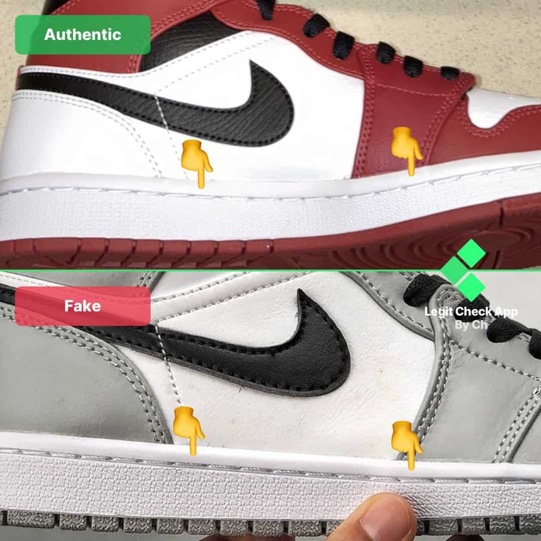 how to spot fake air jordan 1 mid