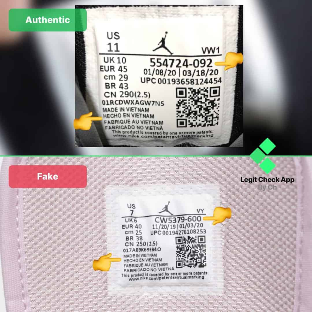 fake vs real aj1 mid