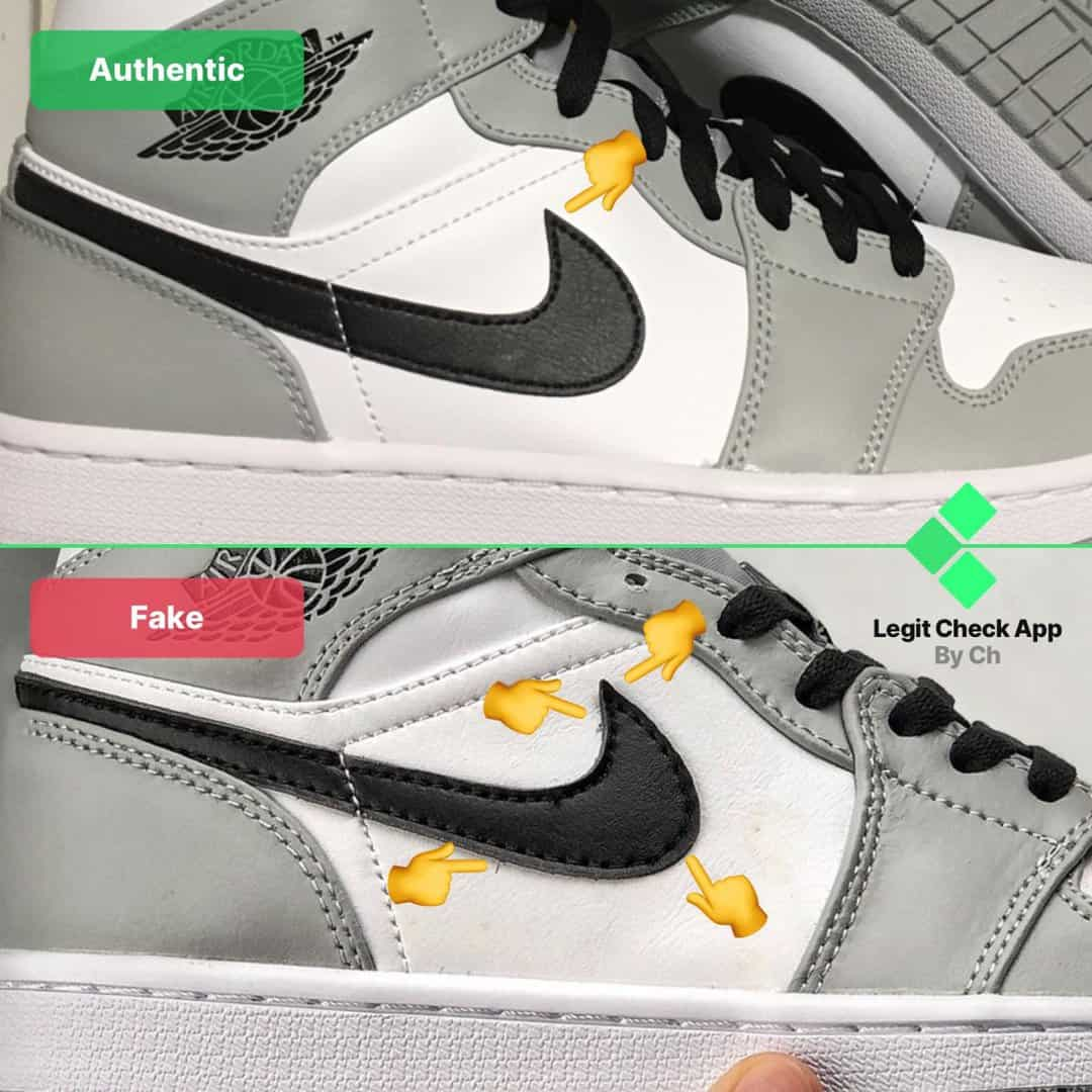 real vs fake aj1 mid